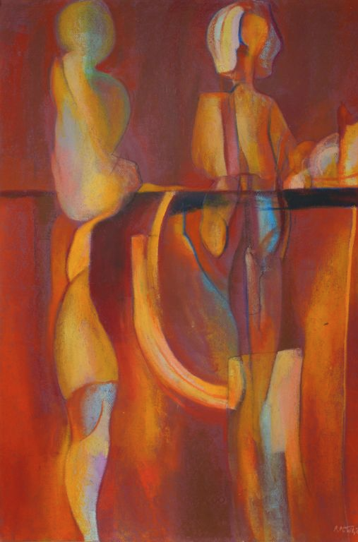 Artist Richard Milek Figurative Oil Pastel